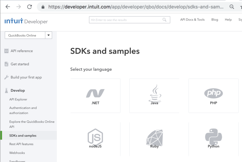samples in variety of languages help devs get started faster