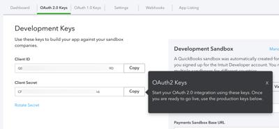 Development keys