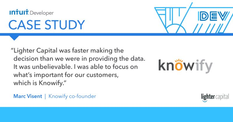 Intuit Developer Case Study: Knowify quote2